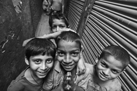 Kids at Majnu Ka Tilla